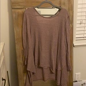 Low back, free people tunic. Size small. Worn